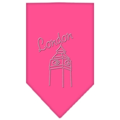 Mirage Pet Products London Rhinestone Bandana Bright Pink Small