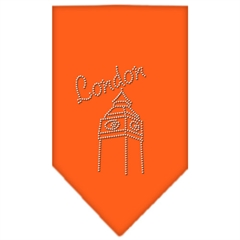 Mirage Pet Products London Rhinestone Bandana Orange Small