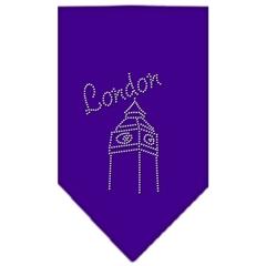 Mirage Pet Products London Rhinestone Bandana Purple Small