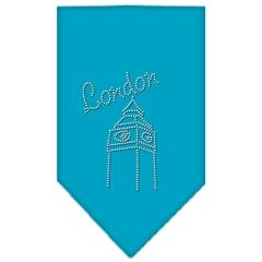 Mirage Pet Products London Rhinestone Bandana Turquoise Large