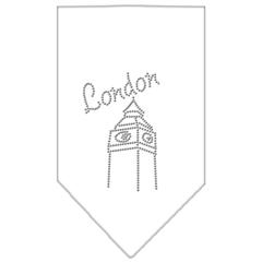 Mirage Pet Products London Rhinestone Bandana White Small