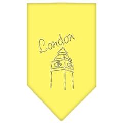 Mirage Pet Products London Rhinestone Bandana Yellow Large