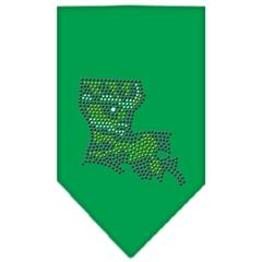 Mirage Pet Products Louisiana Rhinestone Bandana Emerald Green Large