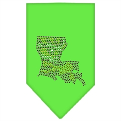 Mirage Pet Products Louisiana Rhinestone Bandana Lime Green Large