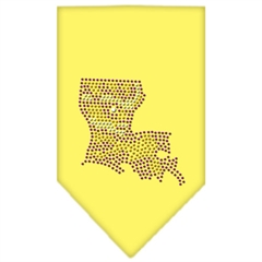 Mirage Pet Products Louisiana Rhinestone Bandana Yellow Large