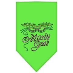 Mirage Pet Products Mardi Gras Rhinestone Bandana Lime Green Small