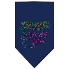 Mirage Pet Products Mardi Gras Rhinestone Bandana Navy Blue Small