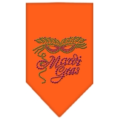 Mirage Pet Products Mardi Gras Rhinestone Bandana Orange Large