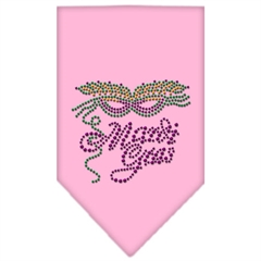 Mirage Pet Products Mardi Gras Rhinestone Bandana Light Pink Small