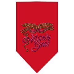 Mirage Pet Products Mardi Gras Rhinestone Bandana Red Small