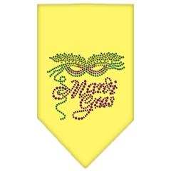 Mirage Pet Products Mardi Gras Rhinestone Bandana Yellow Large