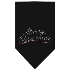 Mirage Pet Products Merry Christmas Rhinestone Bandana Black Small