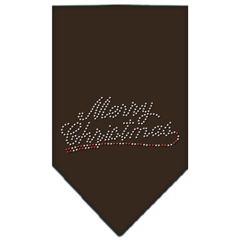 Mirage Pet Products Merry Christmas Rhinestone Bandana Cocoa Large