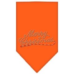 Mirage Pet Products Merry Christmas Rhinestone Bandana Orange Small