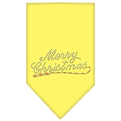 Mirage Pet Products Merry Christmas Rhinestone Bandana Yellow Large