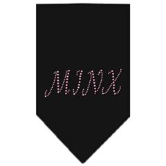 Mirage Pet Products Minx Rhinestone Bandana Black Small