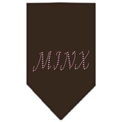 Mirage Pet Products Minx Rhinestone Bandana Cocoa Large