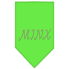 Mirage Pet Products Minx Rhinestone Bandana Lime Green Large