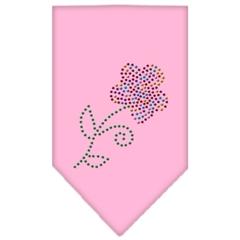 Mirage Pet Products Multi Flower Rhinestone Bandana Light Pink Small