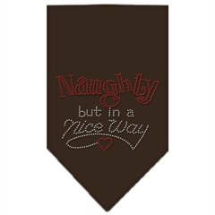 Mirage Pet Products Naughty but in a Nice Way Rhinestone Bandana Cocoa Small