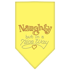 Mirage Pet Products Naughty but in a Nice Way Rhinestone Bandana Yellow Small