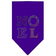 Mirage Pet Products Noel Rhinestone Bandana Purple Large