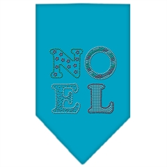 Mirage Pet Products Noel Rhinestone Bandana Turquoise Large