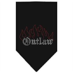 Mirage Pet Products Outlaw Rhinestone Bandana Black Large