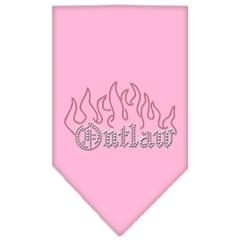 Mirage Pet Products Outlaw Rhinestone Bandana Light Pink Large