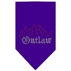 Mirage Pet Products Outlaw Rhinestone Bandana Purple Large