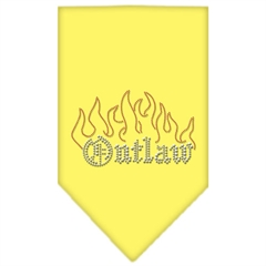 Mirage Pet Products Outlaw Rhinestone Bandana Yellow Large