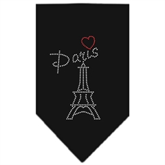 Mirage Pet Products Paris Rhinestone Bandana Black Small