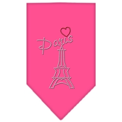 Mirage Pet Products Paris Rhinestone Bandana Bright Pink Large