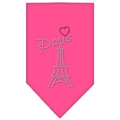 Mirage Pet Products Paris Rhinestone Bandana Bright Pink Small