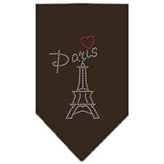 Mirage Pet Products Paris Rhinestone Bandana Cocoa Large