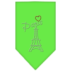Mirage Pet Products Paris Rhinestone Bandana Lime Green Small