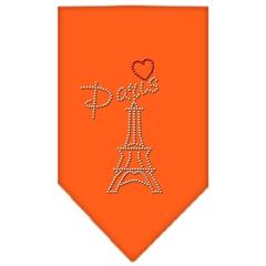 Mirage Pet Products Paris Rhinestone Bandana Orange Large