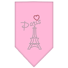 Mirage Pet Products Paris Rhinestone Bandana Light Pink Small