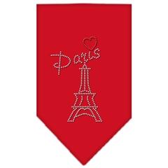 Mirage Pet Products Paris Rhinestone Bandana Red Small