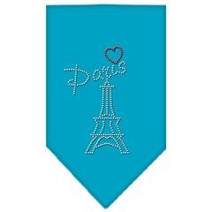 Mirage Pet Products Paris Rhinestone Bandana Turquoise Large