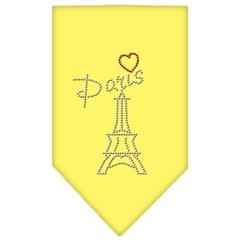 Mirage Pet Products Paris Rhinestone Bandana Yellow Large