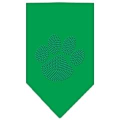 Mirage Pet Products Paw Blue Rhinestone Bandana Emerald Green Small
