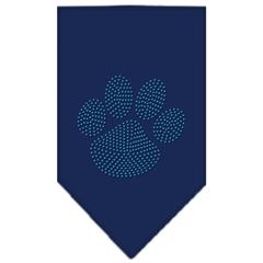 Mirage Pet Products Paw Blue Rhinestone Bandana Navy Blue large
