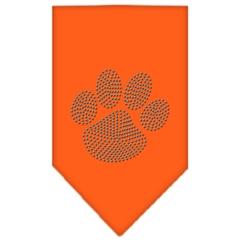 Mirage Pet Products Paw Blue Rhinestone Bandana Orange Large