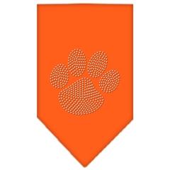 Mirage Pet Products Paw Clear Rhinestone Bandana Orange Large
