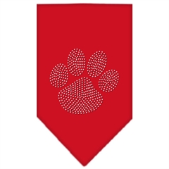 Mirage Pet Products Paw Clear Rhinestone Bandana Red Small