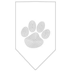 Mirage Pet Products Paw Clear Rhinestone Bandana White Large