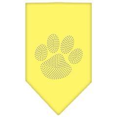 Mirage Pet Products Paw Clear Rhinestone Bandana Yellow Small