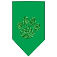 Mirage Pet Products Paw Gold Rhinestone Bandana Emerald Green Small