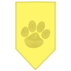 Mirage Pet Products Paw Gold Rhinestone Bandana Yellow Large